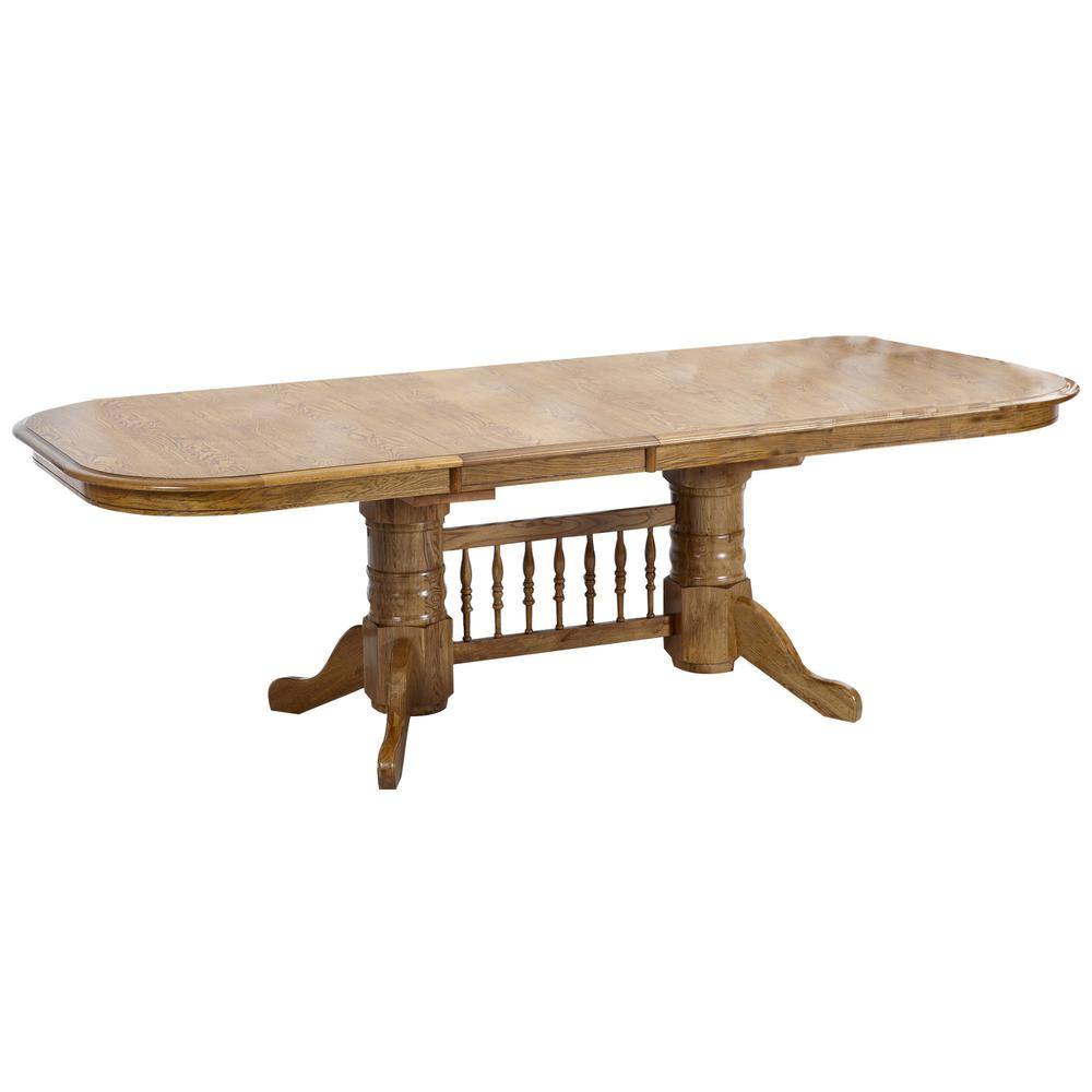 Classic Oak Chestnut Solid Trestle Table