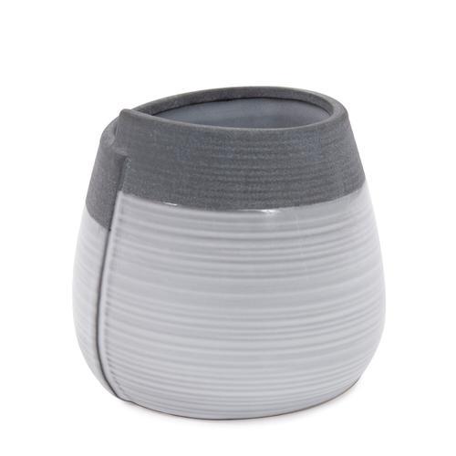 Howard Elliott - Rolled Two Tone Gray Vase, Small