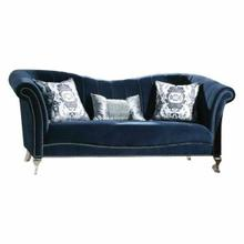 ACME Jaborosa Sofa w/3 Pillows - 50345 - Blue Velvet
