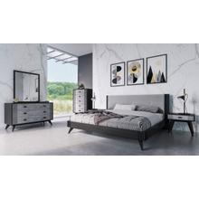 View Product - Nova Domus Panther Contemporary Grey & Black Bedroom Set