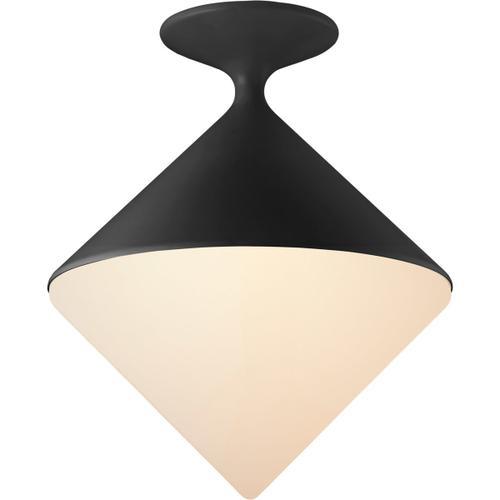 AERIN Sarnen LED 14 inch Matte Black Flush Mount Ceiling Light, Small