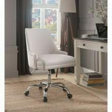 ACME Yuval Office Chair - 92501 - Beige Linen & Chrome