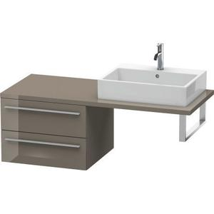 Low Cabinet For Console, Flannel Gray High Gloss (lacquer)