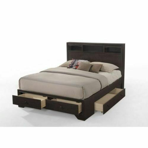ACME Madison II Queen Bed w/Storage - 19560Q - Espresso