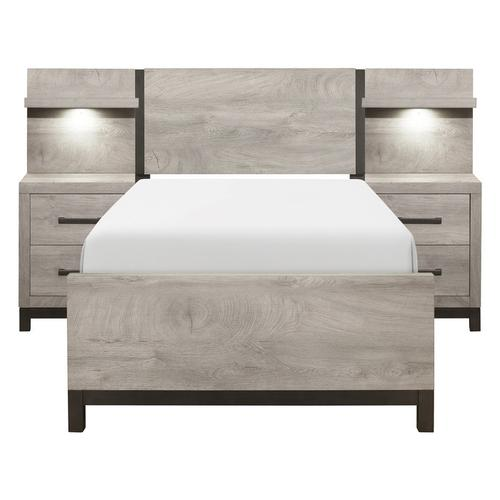 Homelegance - 5pc Set Twin Wall Bed (TB+2NS+2NS-P)