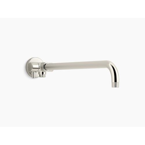 Vibrant Polished Nickel Wall-mount Rainhead Arm With 3-way Diverter