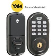 Bronze Keyless Push Button Deadbolt