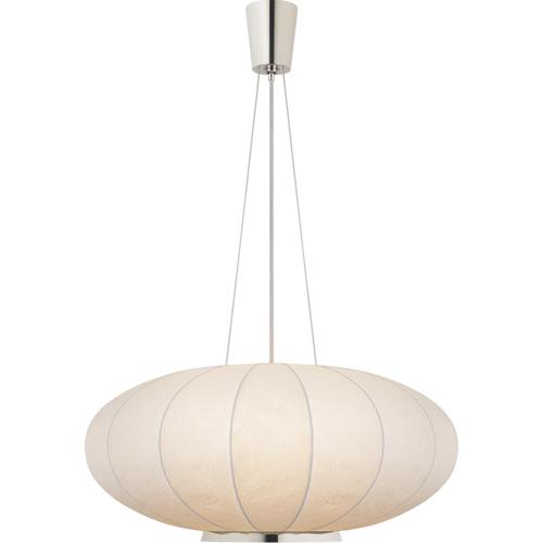 Visual Comfort - Barbara Barry Moon 1 Light 36 inch Polished Nickel Hanging Shade Ceiling Light, Large