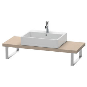 Console For Above-counter Basin And Vanity Basin Compact, Linen (decor)