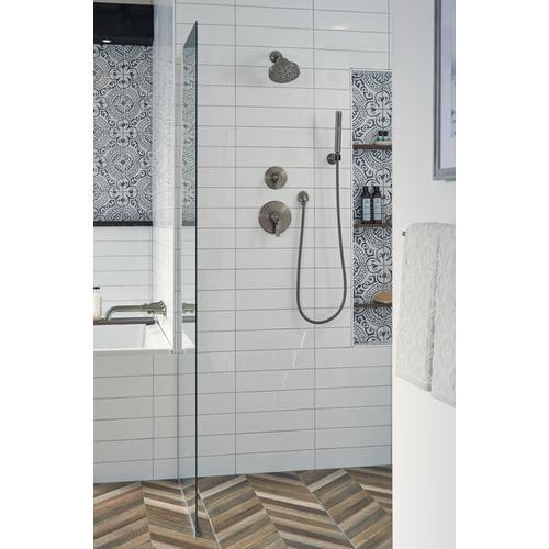 Black Stainless Premium Single-Setting Adjustable Wall Mount Hand Shower