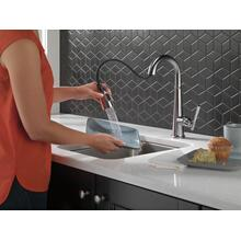 Lumicoat Arctic Stainless Single Handle Pull Down Bar/Prep Faucet
