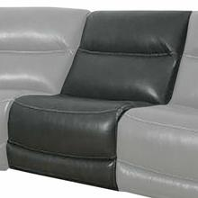See Details - COLOSSUS - NAPOLI GREY Armless Chair