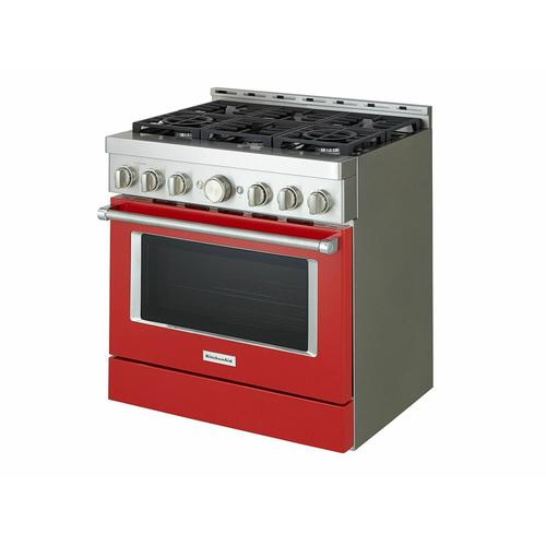 KitchenAid Canada - KitchenAid® 36'' Smart Commercial-Style Gas Range with 6 Burners - Passion Red