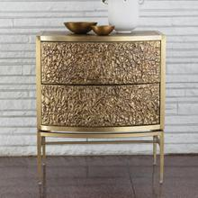 Product Image - Crinkle Bedside Chest-Brass/Bronze