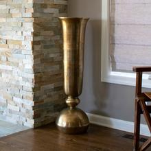 View Product - Gold Oversized Trumpet Vase