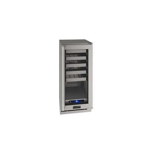 "15"" Wine Refrigerator With Stainless Frame Finish (230 V/50 Hz Volts /50 Hz Hz)"