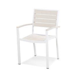 Polywood Furnishings - Eurou2122 Dining Arm Chair in Satin White / Sand