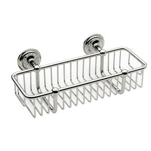 "Polished Chrome 10"" Toiletry Basket Product Image"
