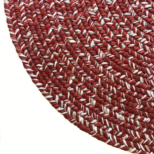 Team Spirit Crimson Grey Braided Rugs