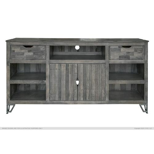 "80"" TV Stand w/2 Drawers and 2 Doors w/4 Shelves"