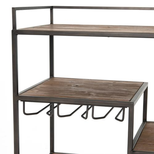 Helena Bar Cart-waxed Black