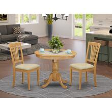 3 Pc Dining room set - Kitchen dinette Table and 2 Kitchen Dining Chairs