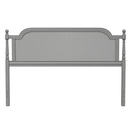 Melanie King Wood Bed, French Gray