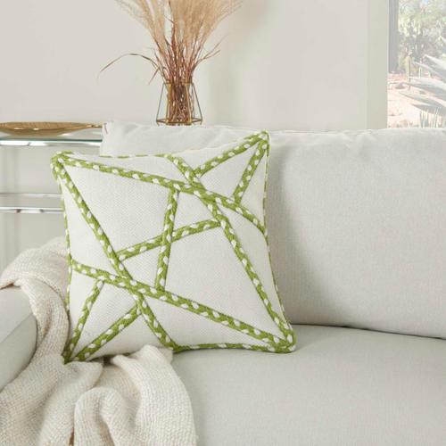 "Outdoor Pillows Vj006 Green 18"" X 18"" Throw Pillow"