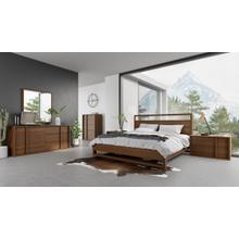 View Product - Nova Domus Berlin - Modern Walnut Bed