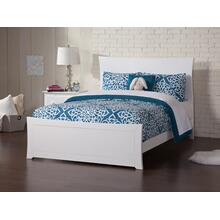 Metro Full Bed with Matching Foot Board in White