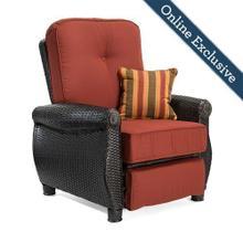 See Details - Breckenridge Patio Recliner w/ Brick Red Cushion