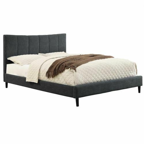 "Worldwide Homefurnishings - Rimo 60"" Queen Platform Bed in Grey"