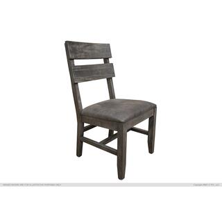 See Details - Solid Wood Chair w/Faux Leather Seat