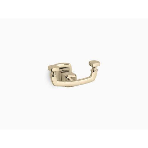 Vibrant French Gold Double Robe Hook