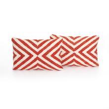 "16x24"" Size Avari Coral X Pillow, Set of 2"