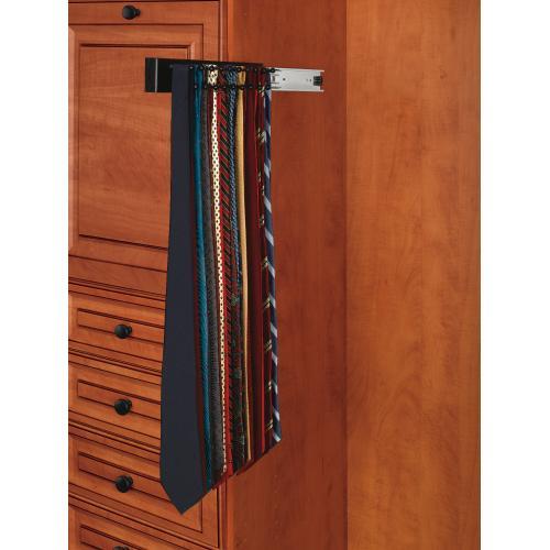 """Rev-a-shelf - Rev-A-Shelf - CWSTR-12B-1 - 12"""" Side Mount Tie Rack"""