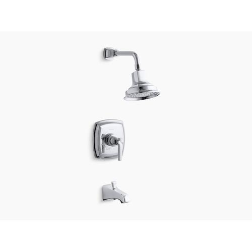 Kohler - Vibrant Brushed Bronze Rite-temp Bath and Shower Trim Set With Lever Handle and Npt Spout, Valve Not Included