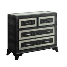 See Details - Glamour 4 Drawer Console Black