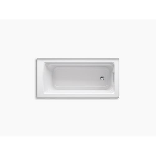 "Thunder Grey 66"" X 32"" Three-side Integral Flange Bath With Right-hand Drain"