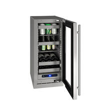 "15"" Beverage Center With Stainless Frame Finish and Left-hand Hinge Door Swing (115 V/60 Hz Volts /60 Hz Hz)"
