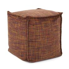 See Details - Square Pouf Mica Eggplant
