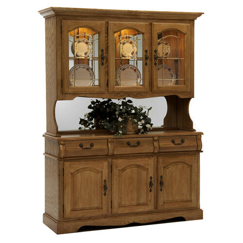 Intercon Furniture - Classic Oak Burnished Large China Cabinet