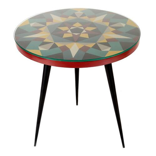 Prismatic Accent Table