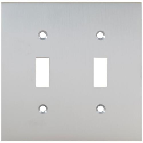 Double Modern Switchplate in (US26D Satin Chrome Plated)