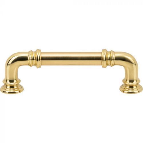 Vesta Fine Hardware - Ronan Pull 3 3/4 Inch (c-c) Polished Brass Polished Brass