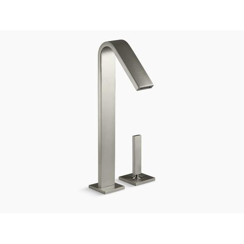 Vibrant Brushed Nickel Single-handle Bathroom Sink Faucet With Lever Handle