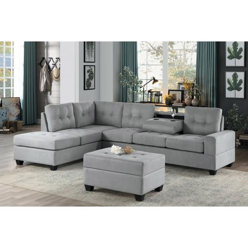Homelegance - 2-Piece Reversible Sectional with Chaise