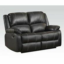 ACME Zuriel Loveseat (Motion) - 52286 - Black PU