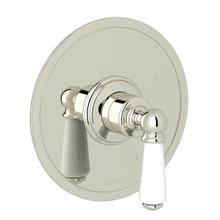 Edwardian Pressure Balance Trim without Diverter - Polished Nickel with Metal Lever Handle