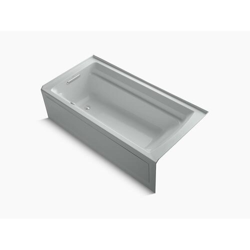 """Ice Grey 72"""" X 36"""" Integral Apron Heated Bubblemassage Air Bath With Left-hand Drain"""